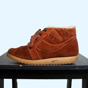 70s Suede and Shearling Chukka Boots US 9 / EU 40